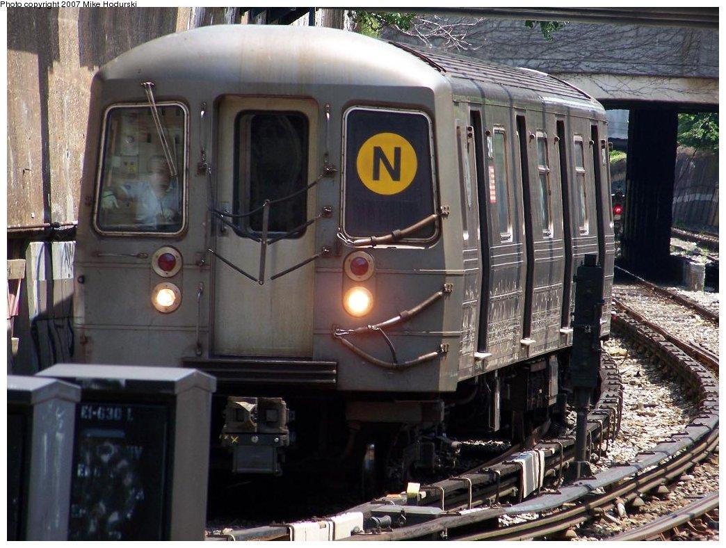 (204k, 1044x788)<br><b>Country:</b> United States<br><b>City:</b> New York<br><b>System:</b> New York City Transit<br><b>Line:</b> BMT Sea Beach Line<br><b>Location:</b> New Utrecht Avenue <br><b>Route:</b> N<br><b>Car:</b> R-68A (Kawasaki, 1988-1989)  5114 <br><b>Photo by:</b> Michael Hodurski<br><b>Date:</b> 6/7/2007<br><b>Viewed (this week/total):</b> 1 / 2152