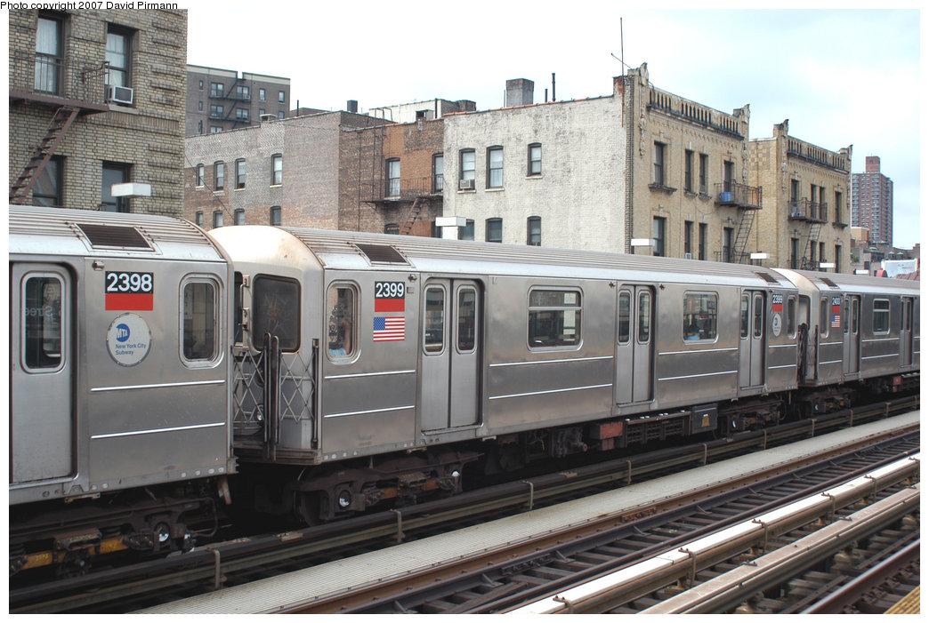 (234k, 1044x701)<br><b>Country:</b> United States<br><b>City:</b> New York<br><b>System:</b> New York City Transit<br><b>Line:</b> IRT West Side Line<br><b>Location:</b> 215th Street <br><b>Route:</b> 1<br><b>Car:</b> R-62A (Bombardier, 1984-1987)  2399 <br><b>Photo by:</b> David Pirmann<br><b>Date:</b> 6/9/2007<br><b>Viewed (this week/total):</b> 0 / 2234