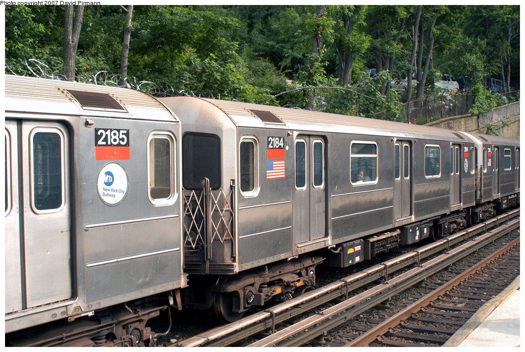 (314k, 1044x701)<br><b>Country:</b> United States<br><b>City:</b> New York<br><b>System:</b> New York City Transit<br><b>Line:</b> IRT West Side Line<br><b>Location:</b> Dyckman Street <br><b>Route:</b> 1<br><b>Car:</b> R-62A (Bombardier, 1984-1987)  2184 <br><b>Photo by:</b> David Pirmann<br><b>Date:</b> 6/9/2007<br><b>Viewed (this week/total):</b> 3 / 2292