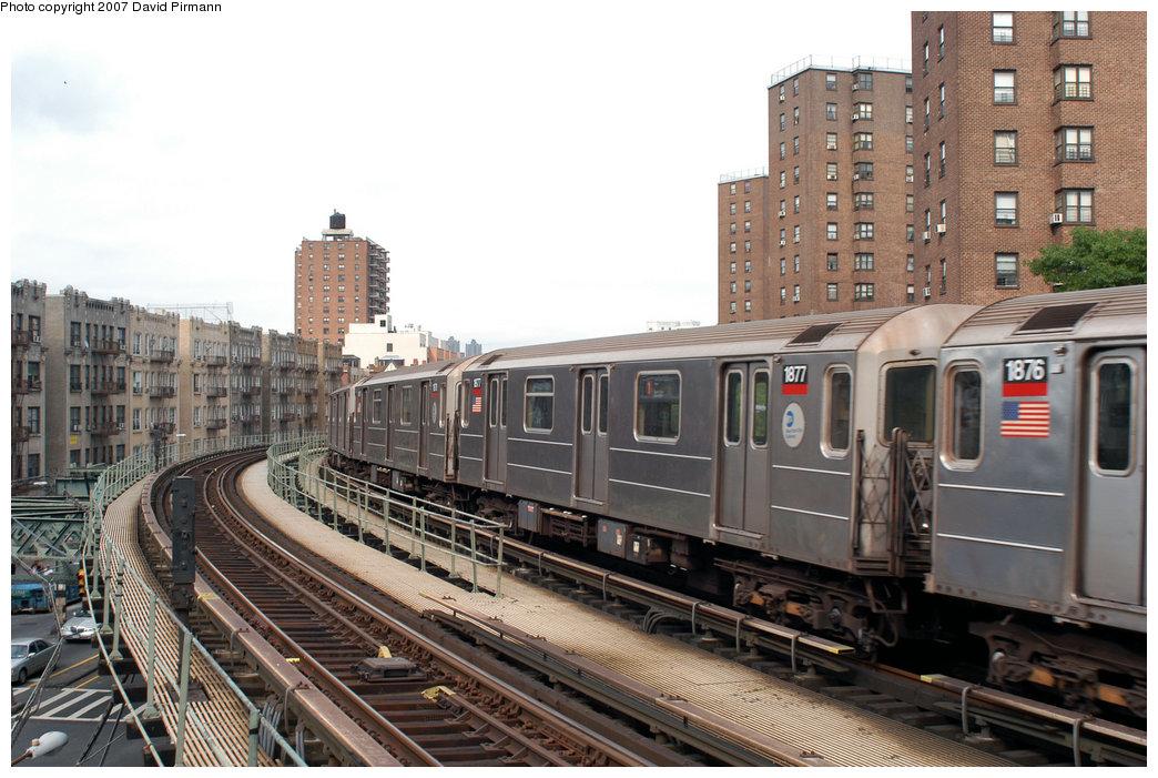 (236k, 1044x701)<br><b>Country:</b> United States<br><b>City:</b> New York<br><b>System:</b> New York City Transit<br><b>Line:</b> IRT West Side Line<br><b>Location:</b> Dyckman Street <br><b>Route:</b> 1<br><b>Car:</b> R-62A (Bombardier, 1984-1987)  1877 <br><b>Photo by:</b> David Pirmann<br><b>Date:</b> 6/9/2007<br><b>Viewed (this week/total):</b> 0 / 2309