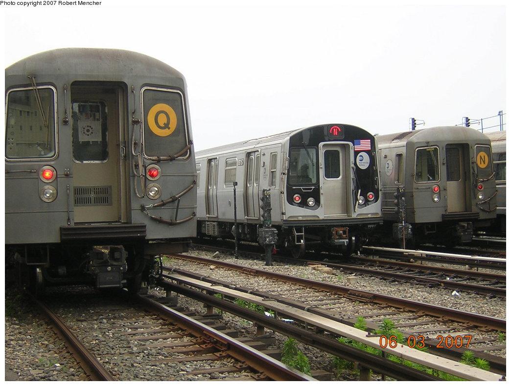 (207k, 1044x788)<br><b>Country:</b> United States<br><b>City:</b> New York<br><b>System:</b> New York City Transit<br><b>Location:</b> Coney Island Yard<br><b>Car:</b> R-160B (Kawasaki, 2005-2008)  8757 <br><b>Photo by:</b> Robert Mencher<br><b>Date:</b> 6/3/2007<br><b>Viewed (this week/total):</b> 0 / 2321