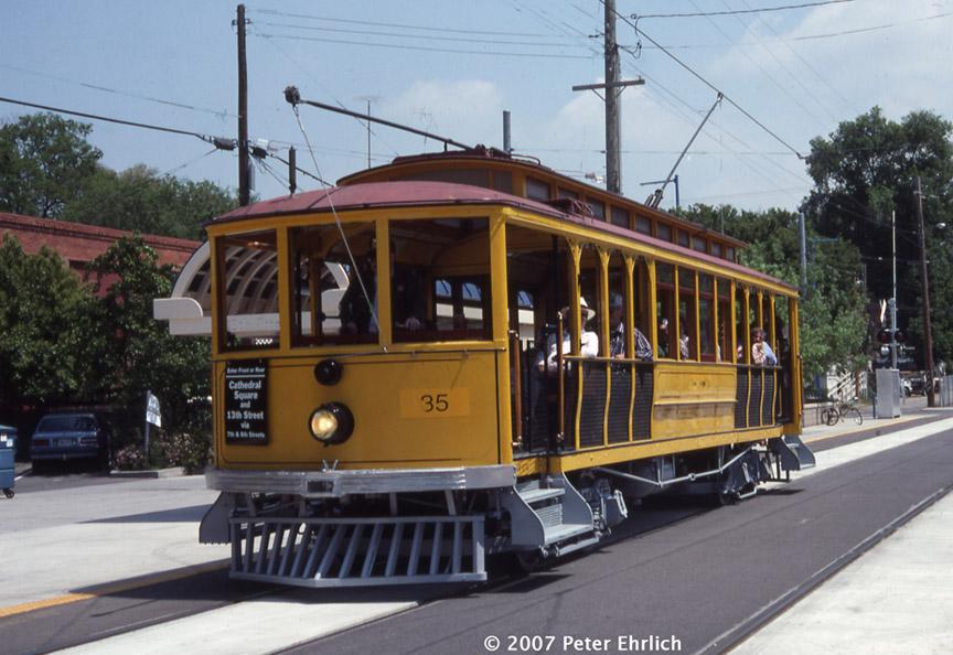 (191k, 864x594)<br><b>Country:</b> United States<br><b>City:</b> Sacramento, CA<br><b>System:</b> SACRT Light Rail<br><b>Location:</b> 13th Street <br><b>Car:</b>  35 <br><b>Photo by:</b> Peter Ehrlich<br><b>Date:</b> 5/3/1991<br><b>Notes:</b> 13th & R Station.<br><b>Viewed (this week/total):</b> 1 / 1003
