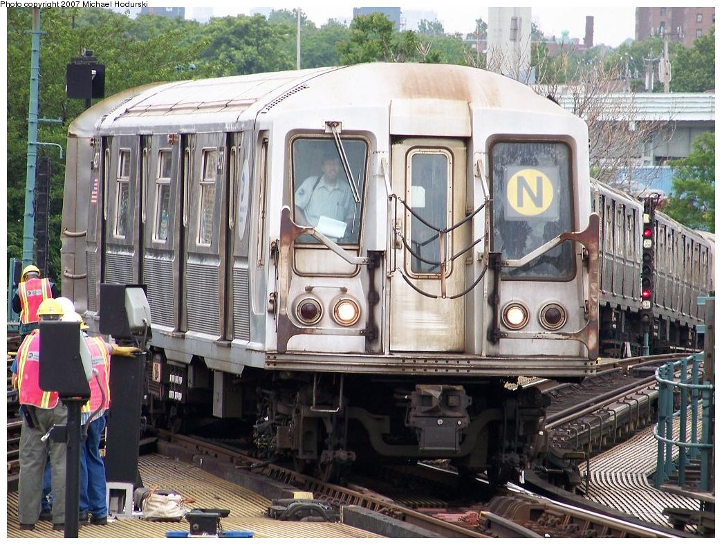 (244k, 1044x788)<br><b>Country:</b> United States<br><b>City:</b> New York<br><b>System:</b> New York City Transit<br><b>Location:</b> Coney Island/Stillwell Avenue<br><b>Route:</b> N<br><b>Car:</b> R-40 (St. Louis, 1968)  4277 <br><b>Photo by:</b> Michael Hodurski<br><b>Date:</b> 6/10/2007<br><b>Viewed (this week/total):</b> 4 / 2090