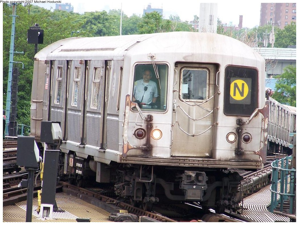 (243k, 1044x788)<br><b>Country:</b> United States<br><b>City:</b> New York<br><b>System:</b> New York City Transit<br><b>Location:</b> Coney Island/Stillwell Avenue<br><b>Route:</b> N<br><b>Car:</b> R-40M (St. Louis, 1969)  4548 <br><b>Photo by:</b> Michael Hodurski<br><b>Date:</b> 6/10/2007<br><b>Viewed (this week/total):</b> 0 / 2390