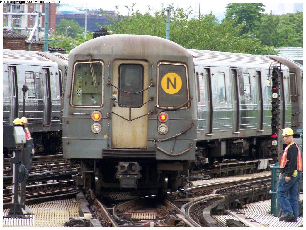 (212k, 1044x788)<br><b>Country:</b> United States<br><b>City:</b> New York<br><b>System:</b> New York City Transit<br><b>Location:</b> Coney Island/Stillwell Avenue<br><b>Route:</b> N<br><b>Car:</b> R-68/R-68A Series (Number Unknown)  <br><b>Photo by:</b> Philip D'Allesandro<br><b>Date:</b> 6/14/2007<br><b>Viewed (this week/total):</b> 0 / 1908
