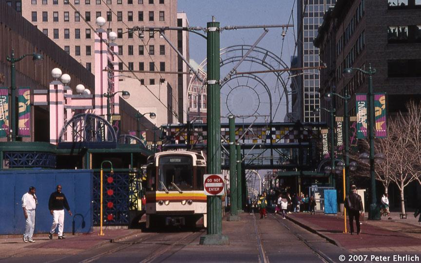 (171k, 864x540)<br><b>Country:</b> United States<br><b>City:</b> Buffalo, NY<br><b>System:</b> NFTA-Metro<br><b>Location:</b> Seneca <br><b>Car:</b>  110 <br><b>Photo by:</b> Peter Ehrlich<br><b>Date:</b> 3/15/1985<br><b>Notes:</b> Seneca station inbound.<br><b>Viewed (this week/total):</b> 6 / 3272