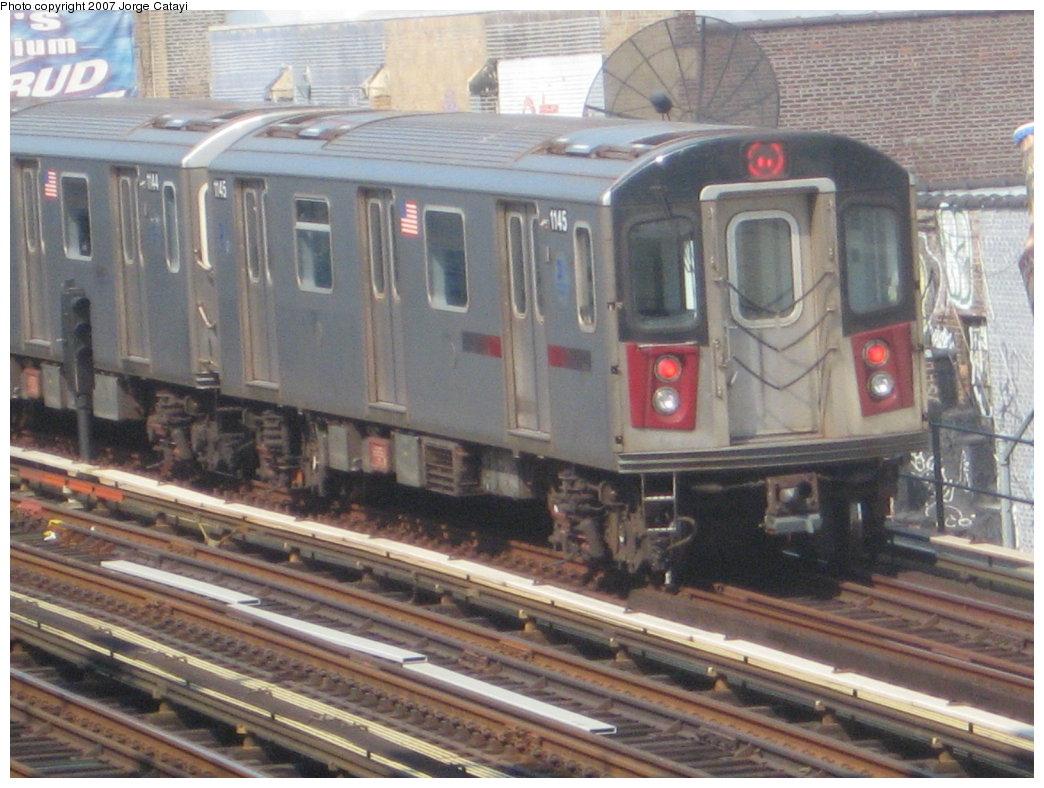 (180k, 1044x788)<br><b>Country:</b> United States<br><b>City:</b> New York<br><b>System:</b> New York City Transit<br><b>Line:</b> IRT Woodlawn Line<br><b>Location:</b> 161st Street/River Avenue (Yankee Stadium) <br><b>Route:</b> 4<br><b>Car:</b> R-142 (Option Order, Bombardier, 2002-2003)  1145 <br><b>Photo by:</b> Jorge Catayi<br><b>Date:</b> 5/27/2007<br><b>Viewed (this week/total):</b> 0 / 3142