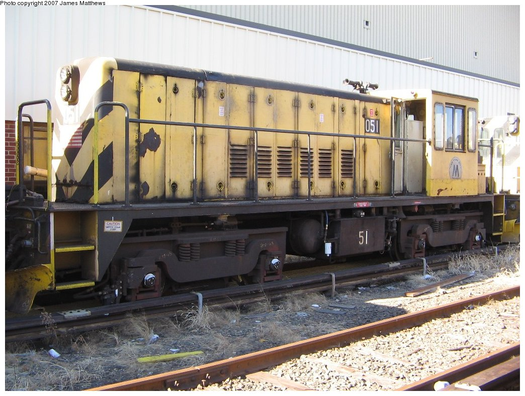 (199k, 1044x788)<br><b>Country:</b> United States<br><b>City:</b> New York<br><b>System:</b> New York City Transit<br><b>Location:</b> Westchester Yard<br><b>Car:</b> R-37 Locomotive  51 <br><b>Photo by:</b> James Matthews<br><b>Date:</b> 11/3/2007<br><b>Viewed (this week/total):</b> 0 / 2242