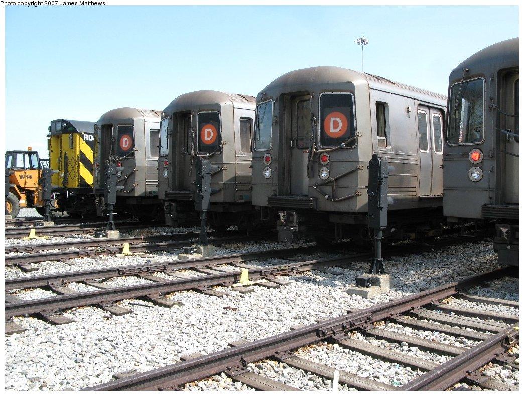 (227k, 1044x788)<br><b>Country:</b> United States<br><b>City:</b> New York<br><b>System:</b> New York City Transit<br><b>Location:</b> Coney Island Yard<br><b>Car:</b> R-68/R-68A Series (Number Unknown)  <br><b>Photo by:</b> James Matthews<br><b>Date:</b> 4/24/2007<br><b>Notes:</b> Stillwell Yard<br><b>Viewed (this week/total):</b> 2 / 2315