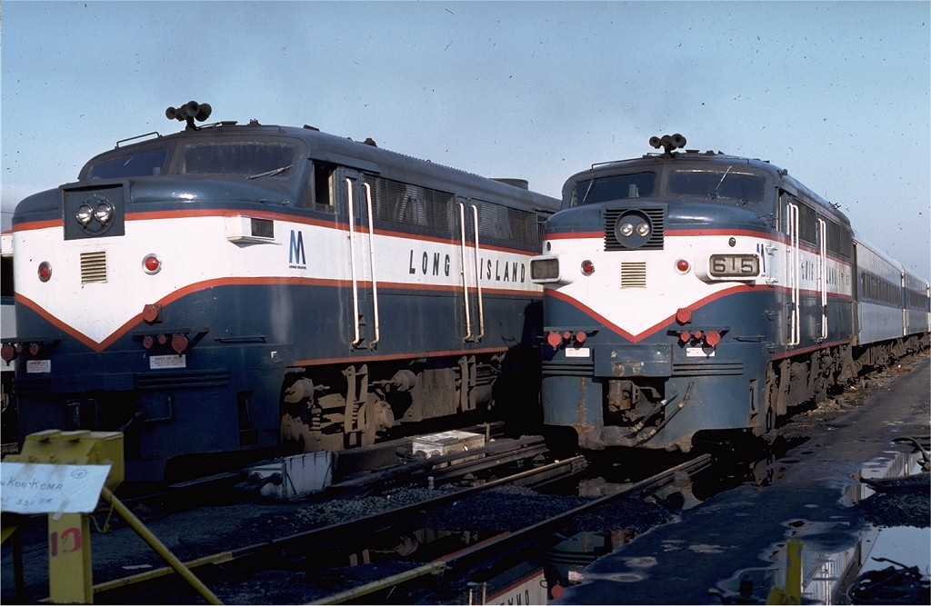 (178k, 1024x667)<br><b>Country:</b> United States<br><b>City:</b> New York<br><b>System:</b> Long Island Rail Road<br><b>Line:</b> LIRR Long Island City<br><b>Location:</b> Long Island City <br><b>Car:</b> LIRR Alco FA1M (HEP/Cab Only) 615 <br><b>Photo by:</b> Ed McKernan<br><b>Collection of:</b> Joe Testagrose<br><b>Date:</b> 4/10/1980<br><b>Viewed (this week/total):</b> 3 / 1354