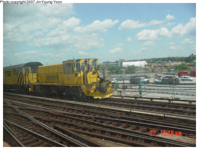 (75k, 660x500)<br><b>Country:</b> United States<br><b>City:</b> New York<br><b>System:</b> New York City Transit<br><b>Location:</b> Coney Island/Stillwell Avenue<br><b>Route:</b> Work Service<br><b>Car:</b> R-43 Locomotive  62 <br><b>Photo by:</b> Jin-Young Yoon<br><b>Date:</b> 6/22/2007<br><b>Viewed (this week/total):</b> 1 / 1881