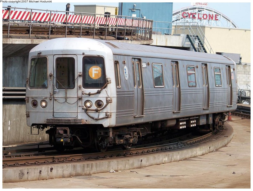 (220k, 1044x788)<br><b>Country:</b> United States<br><b>City:</b> New York<br><b>System:</b> New York City Transit<br><b>Location:</b> Coney Island/Stillwell Avenue<br><b>Route:</b> F<br><b>Car:</b> R-46 (Pullman-Standard, 1974-75) 5864 <br><b>Photo by:</b> Michael Hodurski<br><b>Date:</b> 6/19/2007<br><b>Viewed (this week/total):</b> 2 / 1908