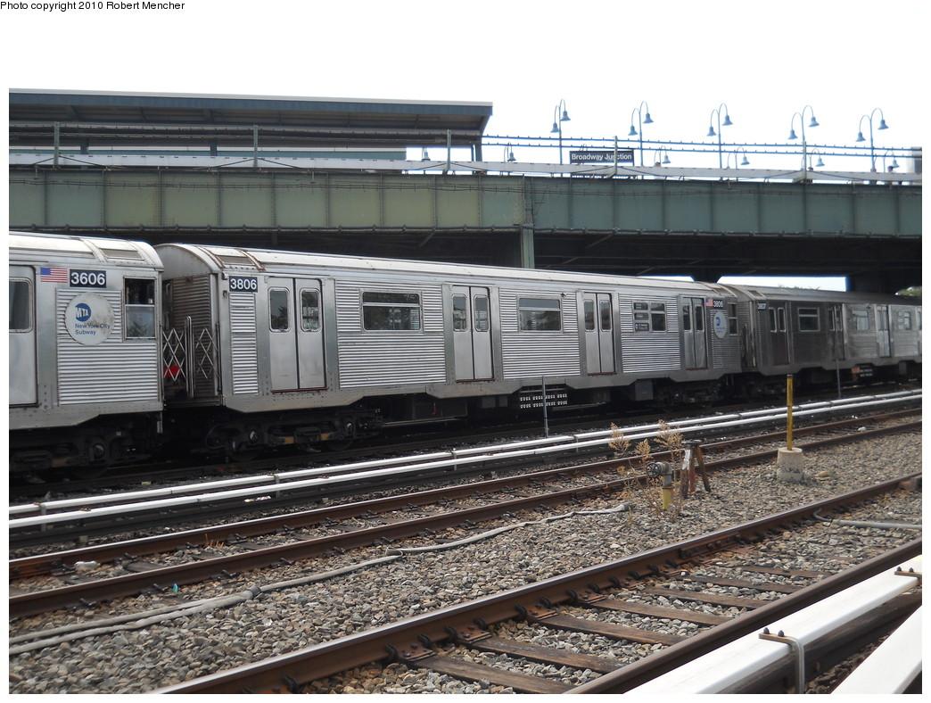 (311k, 1044x788)<br><b>Country:</b> United States<br><b>City:</b> New York<br><b>System:</b> New York City Transit<br><b>Location:</b> East New York Yard/Shops<br><b>Car:</b> R-32 (Budd, 1964)  3806 <br><b>Photo by:</b> Robert Mencher<br><b>Date:</b> 8/9/2010<br><b>Viewed (this week/total):</b> 0 / 773