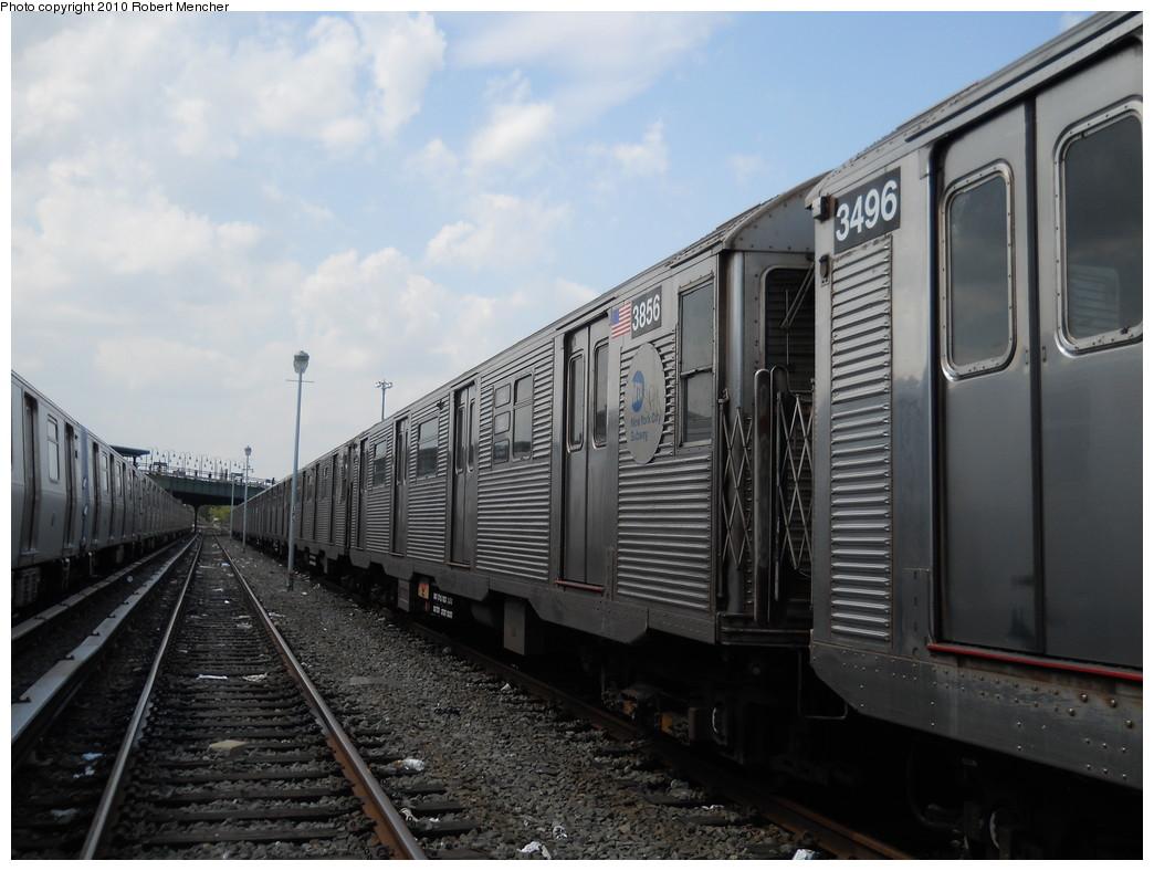 (242k, 1044x788)<br><b>Country:</b> United States<br><b>City:</b> New York<br><b>System:</b> New York City Transit<br><b>Location:</b> East New York Yard/Shops<br><b>Car:</b> R-32 (Budd, 1964)  3856 <br><b>Photo by:</b> Robert Mencher<br><b>Date:</b> 8/11/2010<br><b>Viewed (this week/total):</b> 0 / 560