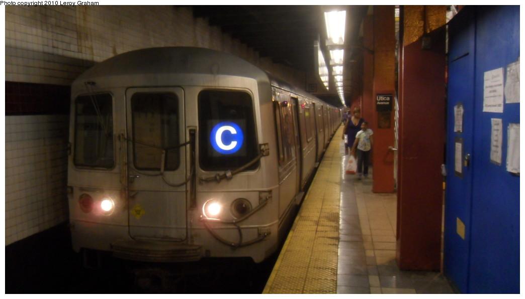(135k, 1044x596)<br><b>Country:</b> United States<br><b>City:</b> New York<br><b>System:</b> New York City Transit<br><b>Line:</b> IND Fulton Street Line<br><b>Location:</b> Utica Avenue <br><b>Route:</b> C<br><b>Car:</b> R-44 (St. Louis, 1971-73) 5300 <br><b>Photo by:</b> Leroy Graham<br><b>Date:</b> 7/17/2010<br><b>Viewed (this week/total):</b> 1 / 1506