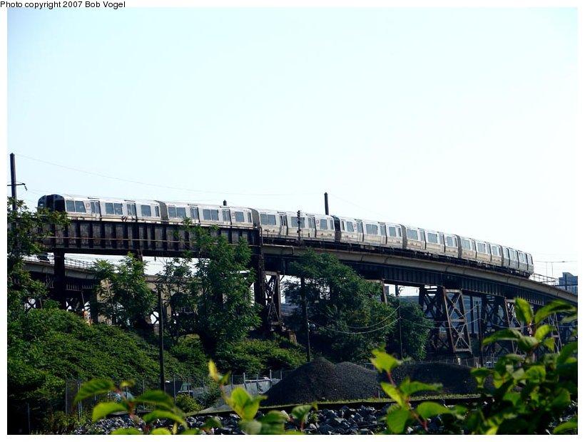 (96k, 820x620)<br><b>Country:</b> United States<br><b>City:</b> Harrison, NJ<br><b>System:</b> PATH<br><b>Location:</b> Harrison <br><b>Car:</b> PATH PA  <br><b>Photo by:</b> Bob Vogel<br><b>Date:</b> 6/25/2007<br><b>Viewed (this week/total):</b> 3 / 3096