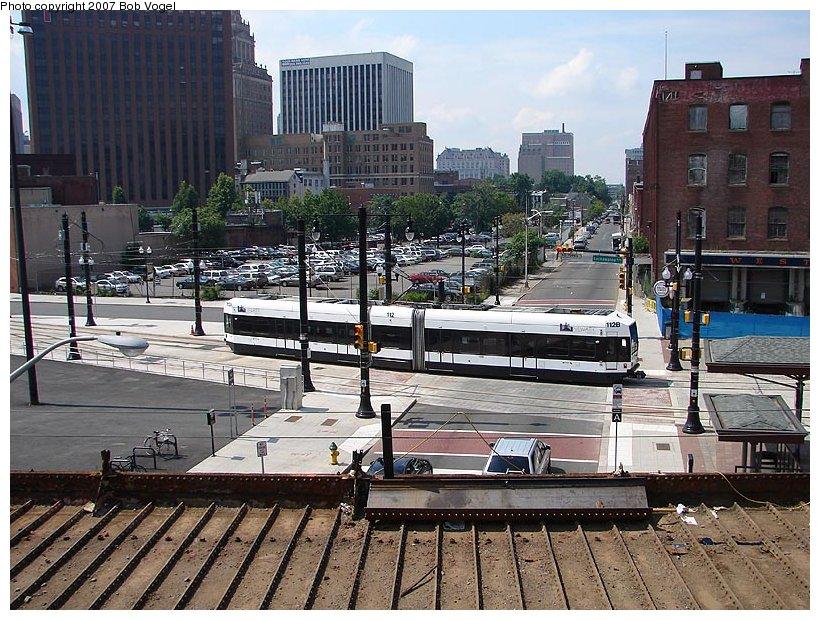 (158k, 820x620)<br><b>Country:</b> United States<br><b>City:</b> Newark, NJ<br><b>System:</b> Newark City Subway<br><b>Location:</b> PRW Between Broad & University <br><b>Car:</b> NJT Kinki-Sharyo LRV (Newark) 112 <br><b>Photo by:</b> Bob Vogel<br><b>Date:</b> 6/25/2007<br><b>Viewed (this week/total):</b> 1 / 1451