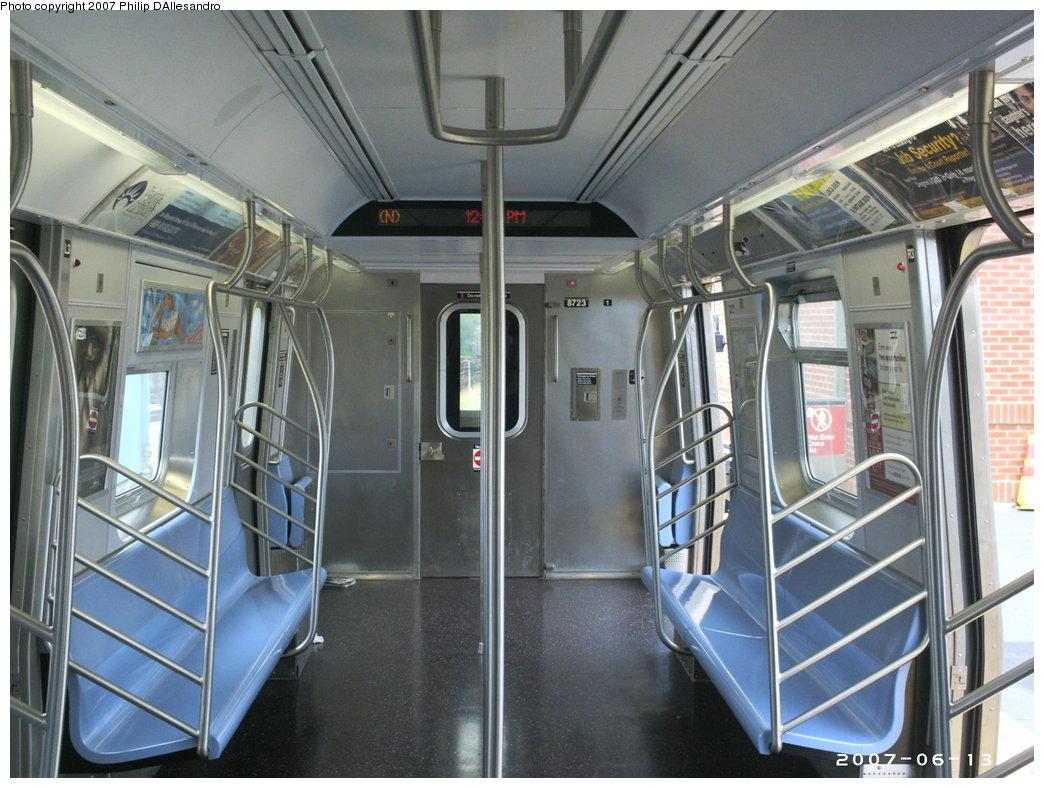 (187k, 1044x788)<br><b>Country:</b> United States<br><b>City:</b> New York<br><b>System:</b> New York City Transit<br><b>Location:</b> Coney Island/Stillwell Avenue<br><b>Route:</b> N<br><b>Car:</b> R-160B (Kawasaki, 2005-2008)  8723 <br><b>Photo by:</b> Philip D'Allesandro<br><b>Date:</b> 6/13/2007<br><b>Viewed (this week/total):</b> 0 / 3108