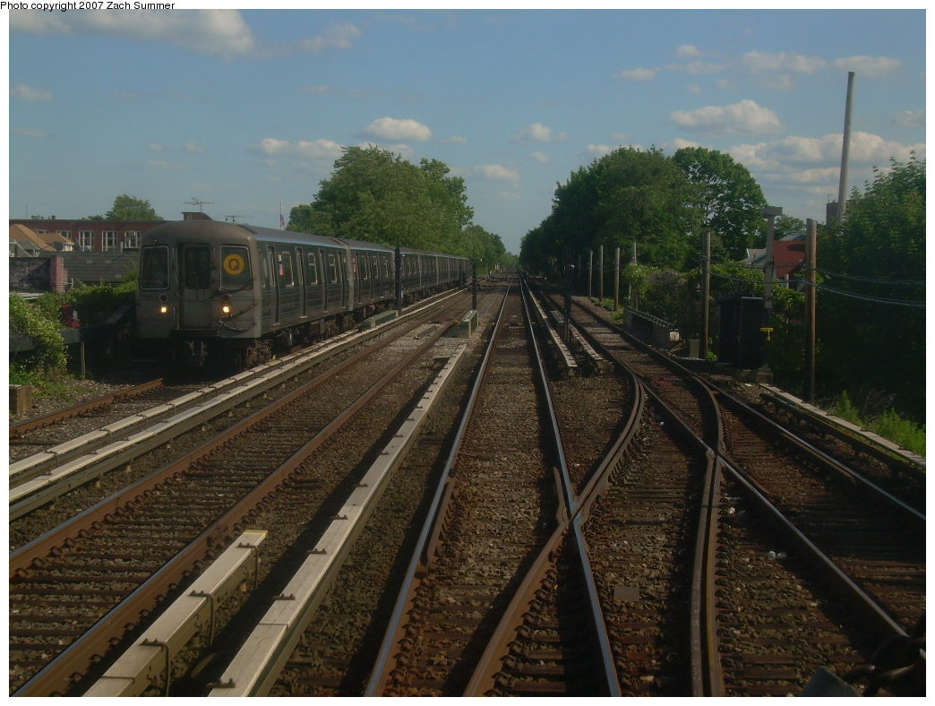 (213k, 1044x788)<br><b>Country:</b> United States<br><b>City:</b> New York<br><b>System:</b> New York City Transit<br><b>Line:</b> BMT Brighton Line<br><b>Location:</b> Kings Highway <br><b>Route:</b> Q<br><b>Car:</b> R-68A (Kawasaki, 1988-1989)   <br><b>Photo by:</b> Zach Summer<br><b>Date:</b> 6/6/2007<br><b>Viewed (this week/total):</b> 8 / 2177