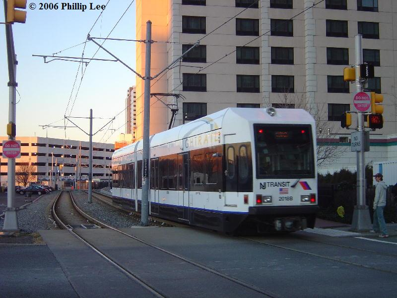 (85k, 800x600)<br><b>Country:</b> United States<br><b>City:</b> Jersey City, NJ<br><b>System:</b> Hudson Bergen Light Rail<br><b>Location:</b> Harsimus Cove <br><b>Car:</b> NJT-HBLR LRV (Kinki-Sharyo, 1998-99)  2016 <br><b>Photo by:</b> Phillip Lee<br><b>Date:</b> 12/23/2006<br><b>Viewed (this week/total):</b> 1 / 953