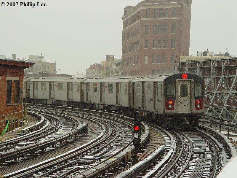 (116k, 800x600)<br><b>Country:</b> United States<br><b>City:</b> New York<br><b>System:</b> New York City Transit<br><b>Line:</b> IRT White Plains Road Line<br><b>Location:</b> Simpson Street <br><b>Route:</b> 2<br><b>Car:</b> R-142 or R-142A (Number Unknown)  <br><b>Photo by:</b> Phillip Lee<br><b>Date:</b> 2/14/2007<br><b>Viewed (this week/total):</b> 0 / 2290