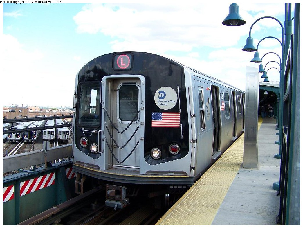 (183k, 1044x788)<br><b>Country:</b> United States<br><b>City:</b> New York<br><b>System:</b> New York City Transit<br><b>Line:</b> BMT Canarsie Line<br><b>Location:</b> Rockaway Parkway <br><b>Route:</b> L<br><b>Car:</b> R-143 (Kawasaki, 2001-2002) 8236 <br><b>Photo by:</b> Michael Hodurski<br><b>Date:</b> 6/22/2007<br><b>Viewed (this week/total):</b> 5 / 2288