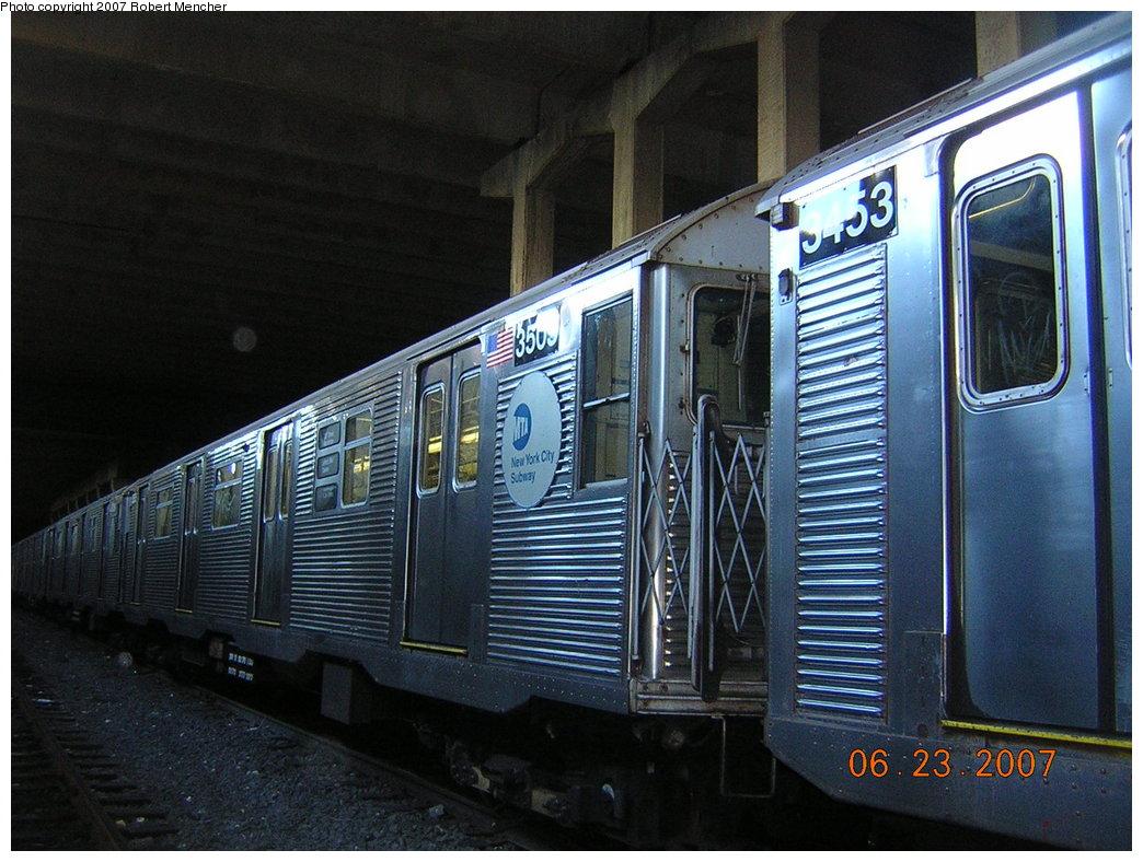 (226k, 1044x788)<br><b>Country:</b> United States<br><b>City:</b> New York<br><b>System:</b> New York City Transit<br><b>Location:</b> Pitkin Yard/Shops<br><b>Car:</b> R-32 (Budd, 1964)  3509 <br><b>Photo by:</b> Robert Mencher<br><b>Date:</b> 6/23/2007<br><b>Viewed (this week/total):</b> 0 / 1965