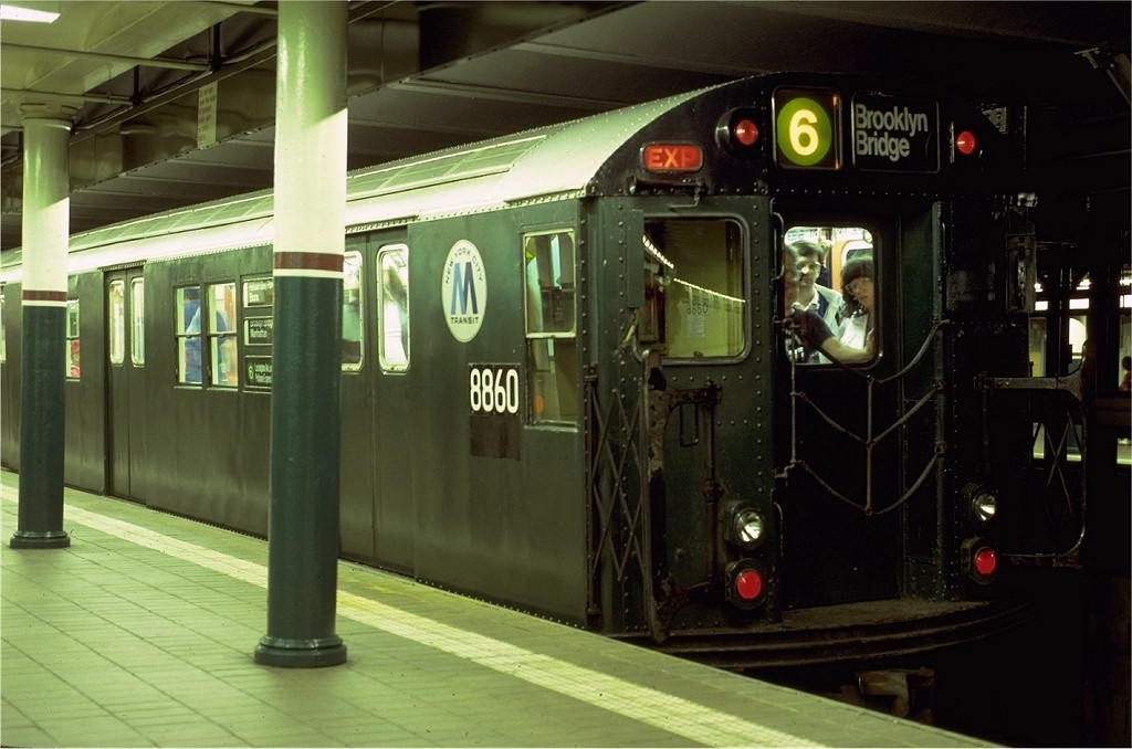 (164k, 1024x678)<br><b>Country:</b> United States<br><b>City:</b> New York<br><b>System:</b> New York City Transit<br><b>Line:</b> IRT East Side Line<br><b>Location:</b> Astor Place <br><b>Route:</b> Fan Trip<br><b>Car:</b> R-33 Main Line (St. Louis, 1962-63) 8860 <br><b>Photo by:</b> Eric Oszustowicz<br><b>Collection of:</b> Joe Testagrose<br><b>Date:</b> 5/24/1987<br><b>Viewed (this week/total):</b> 3 / 4497