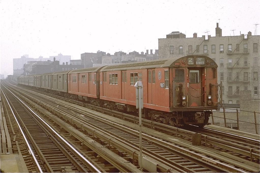 (221k, 1024x683)<br><b>Country:</b> United States<br><b>City:</b> New York<br><b>System:</b> New York City Transit<br><b>Line:</b> IRT White Plains Road Line<br><b>Location:</b> Intervale Avenue <br><b>Route:</b> 2<br><b>Car:</b> R-33 Main Line (St. Louis, 1962-63) 9017 <br><b>Photo by:</b> Joe Testagrose<br><b>Date:</b> 10/23/1971<br><b>Viewed (this week/total):</b> 2 / 2062