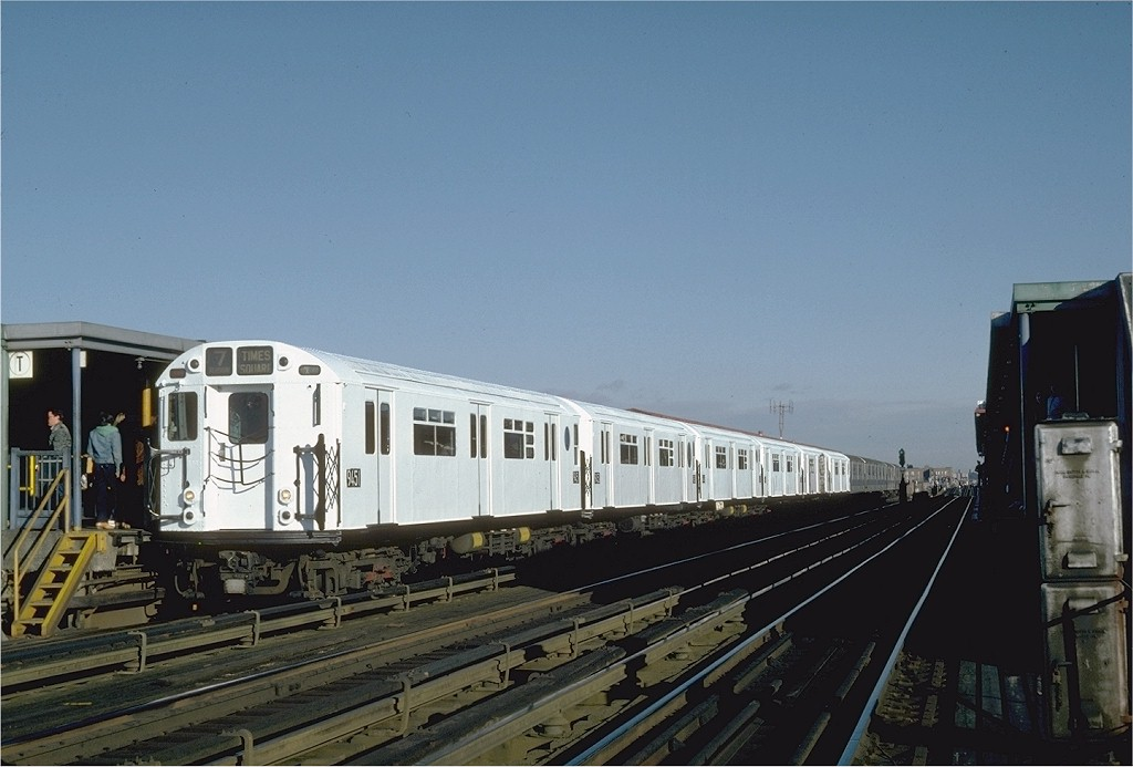 (157k, 1024x693)<br><b>Country:</b> United States<br><b>City:</b> New York<br><b>System:</b> New York City Transit<br><b>Line:</b> IRT Flushing Line<br><b>Location:</b> 74th Street/Broadway <br><b>Route:</b> 7<br><b>Car:</b> R-36 World's Fair (St. Louis, 1963-64) 9451 <br><b>Photo by:</b> Steve Zabel<br><b>Collection of:</b> Joe Testagrose<br><b>Date:</b> 12/11/1981<br><b>Viewed (this week/total):</b> 1 / 2744
