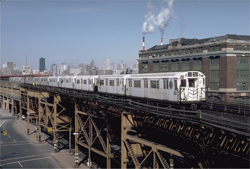 (243k, 1024x694)<br><b>Country:</b> United States<br><b>City:</b> New York<br><b>System:</b> New York City Transit<br><b>Line:</b> IRT Flushing Line<br><b>Location:</b> Queensborough Plaza <br><b>Route:</b> 7<br><b>Car:</b> R-36 World's Fair (St. Louis, 1963-64) 9468 <br><b>Photo by:</b> Steve Zabel<br><b>Collection of:</b> Joe Testagrose<br><b>Date:</b> 3/24/1984<br><b>Viewed (this week/total):</b> 3 / 3723