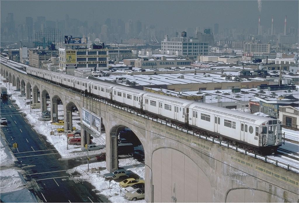 (265k, 1024x697)<br><b>Country:</b> United States<br><b>City:</b> New York<br><b>System:</b> New York City Transit<br><b>Line:</b> IRT Flushing Line<br><b>Location:</b> 40th Street/Lowery Street <br><b>Route:</b> 7<br><b>Car:</b> R-36 World's Fair (St. Louis, 1963-64) 9705 <br><b>Photo by:</b> Steve Zabel<br><b>Collection of:</b> Joe Testagrose<br><b>Date:</b> 2/13/1983<br><b>Viewed (this week/total):</b> 0 / 4411