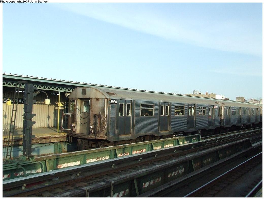 (145k, 1044x788)<br><b>Country:</b> United States<br><b>City:</b> New York<br><b>System:</b> New York City Transit<br><b>Line:</b> BMT Culver Line<br><b>Location:</b> Ditmas Avenue <br><b>Route:</b> F<br><b>Car:</b> R-32 (Budd, 1964)  3930 <br><b>Photo by:</b> John Barnes<br><b>Date:</b> 6/24/2007<br><b>Viewed (this week/total):</b> 4 / 1795