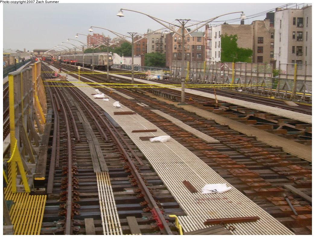 (258k, 1044x788)<br><b>Country:</b> United States<br><b>City:</b> New York<br><b>System:</b> New York City Transit<br><b>Line:</b> BMT Brighton Line<br><b>Location:</b> Ocean Parkway <br><b>Photo by:</b> Zach Summer<br><b>Date:</b> 6/29/2007<br><b>Notes:</b> Track rebuild project.<br><b>Viewed (this week/total):</b> 2 / 1336