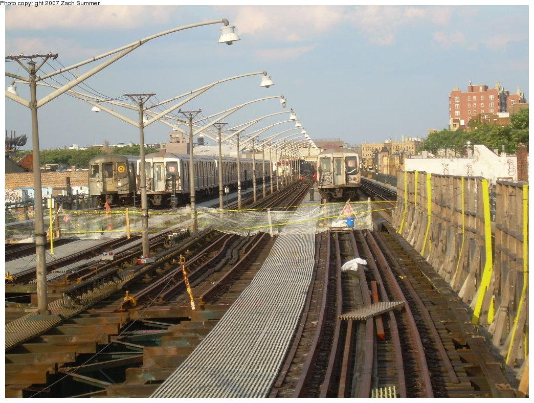 (257k, 1044x788)<br><b>Country:</b> United States<br><b>City:</b> New York<br><b>System:</b> New York City Transit<br><b>Line:</b> BMT Brighton Line<br><b>Location:</b> Ocean Parkway <br><b>Photo by:</b> Zach Summer<br><b>Date:</b> 7/7/2007<br><b>Notes:</b> Track rebuild project.<br><b>Viewed (this week/total):</b> 0 / 1297