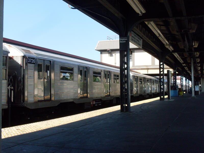 (64k, 800x600)<br><b>Country:</b> United States<br><b>City:</b> New York<br><b>System:</b> New York City Transit<br><b>Line:</b> BMT Brighton Line<br><b>Location:</b> Brighton Beach <br><b>Route:</b> B<br><b>Car:</b> R-32 (Budd, 1964)  3726 <br><b>Photo by:</b> Anthony Modesto<br><b>Date:</b> 6/25/2010<br><b>Viewed (this week/total):</b> 0 / 954