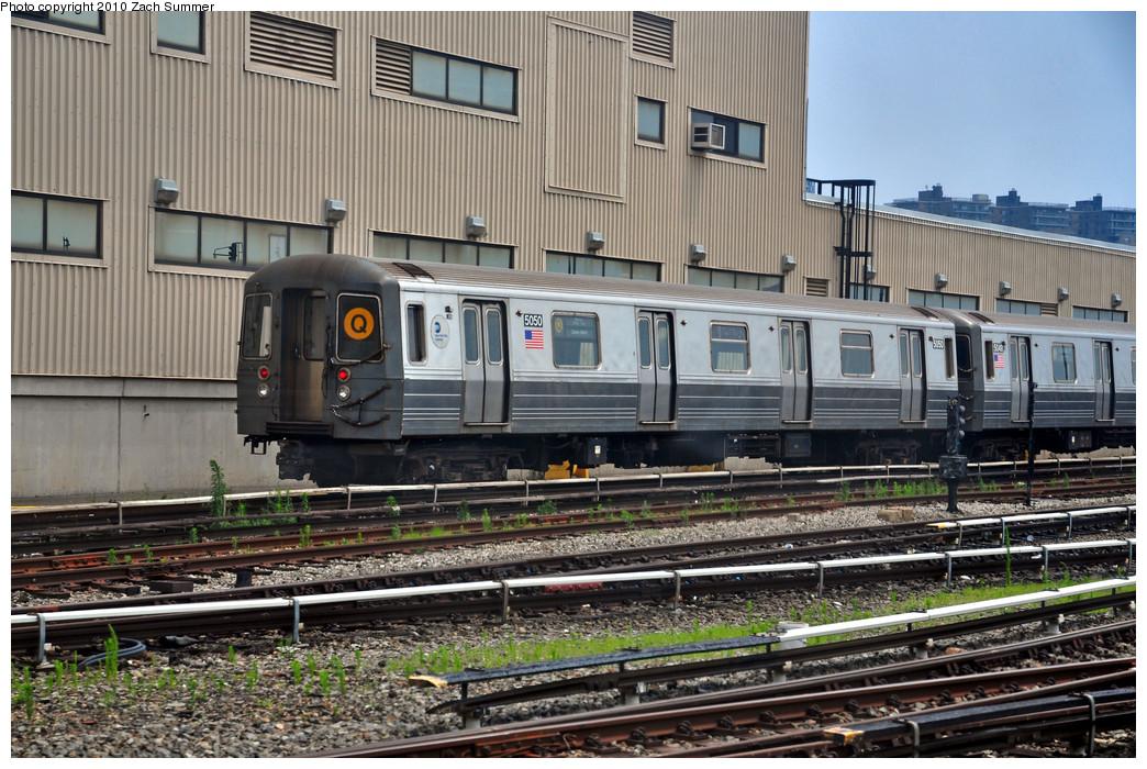 (306k, 1044x700)<br><b>Country:</b> United States<br><b>City:</b> New York<br><b>System:</b> New York City Transit<br><b>Location:</b> Coney Island Yard<br><b>Car:</b> R-68A (Kawasaki, 1988-1989)  5050 <br><b>Photo by:</b> Zach Summer<br><b>Date:</b> 6/27/2010<br><b>Viewed (this week/total):</b> 0 / 1237