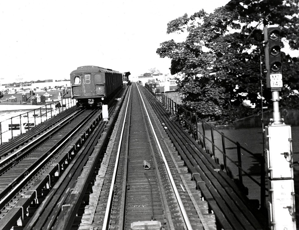 (245k, 1024x790)<br><b>Country:</b> United States<br><b>City:</b> New York<br><b>System:</b> New York City Transit<br><b>Line:</b> BMT Myrtle Avenue Line<br><b>Location:</b> Forest Avenue <br><b>Car:</b> BMT A/B-Type Standard  <br><b>Collection of:</b> George Conrad Collection<br><b>Date:</b> 6/20/1968<br><b>Viewed (this week/total):</b> 0 / 1675
