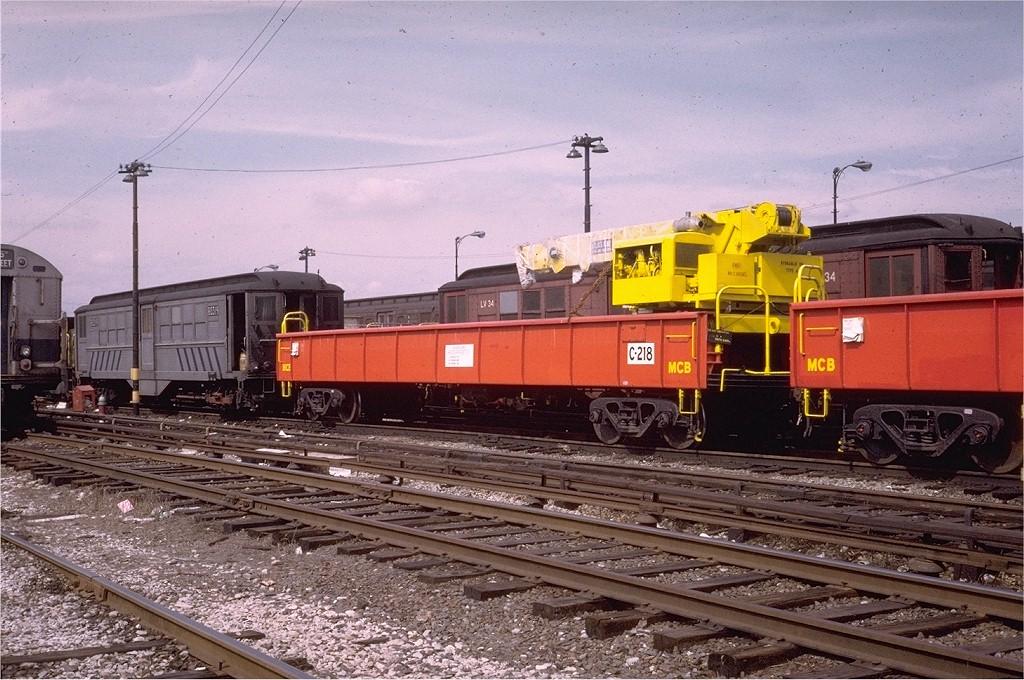 (233k, 1024x680)<br><b>Country:</b> United States<br><b>City:</b> New York<br><b>System:</b> New York City Transit<br><b>Location:</b> 36th Street Yard<br><b>Car:</b> Crane Car 218 <br><b>Photo by:</b> Joe Testagrose<br><b>Date:</b> 3/21/1973<br><b>Viewed (this week/total):</b> 1 / 1512