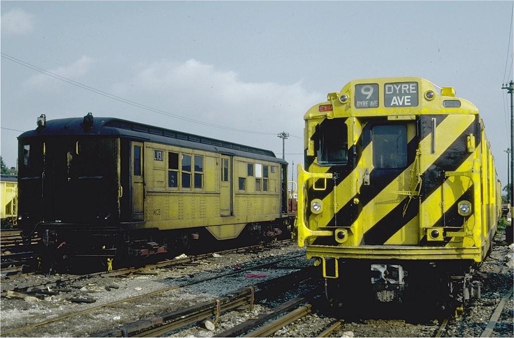 (204k, 1024x674)<br><b>Country:</b> United States<br><b>City:</b> New York<br><b>System:</b> New York City Transit<br><b>Location:</b> Coney Island Yard<br><b>Car:</b> Low-V LV31 (ex-5439)<br><b>Photo by:</b> Steve Zabel<br><b>Collection of:</b> Joe Testagrose<br><b>Date:</b> 6/19/1981<br><b>Viewed (this week/total):</b> 0 / 1550