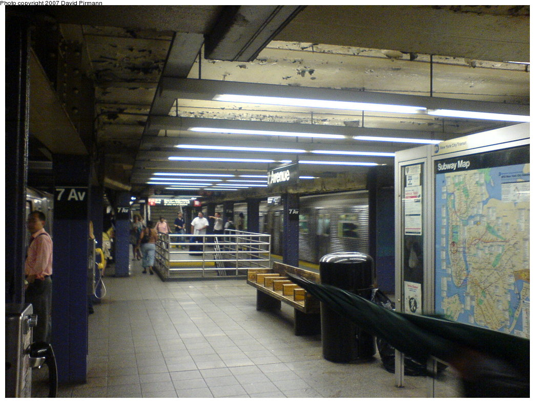 (189k, 1044x788)<br><b>Country:</b> United States<br><b>City:</b> New York<br><b>System:</b> New York City Transit<br><b>Line:</b> IND Queens Boulevard Line<br><b>Location:</b> 7th Avenue/53rd Street <br><b>Photo by:</b> David Pirmann<br><b>Date:</b> 7/11/2007<br><b>Notes:</b> Upper level.<br><b>Viewed (this week/total):</b> 0 / 2375