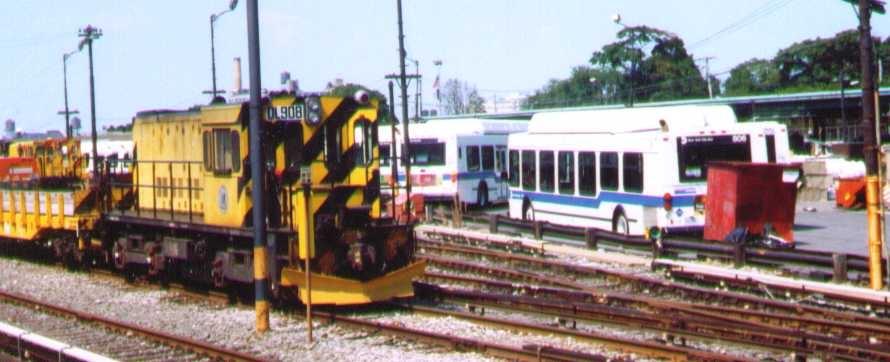 (127k, 890x362)<br><b>Country:</b> United States<br><b>City:</b> New York<br><b>System:</b> New York City Transit<br><b>Location:</b> 36th Street Yard<br><b>Car:</b> R-120 Locomotive  908 <br><b>Photo by:</b> Bob Wright<br><b>Date:</b> 8/26/2001<br><b>Viewed (this week/total):</b> 0 / 2558