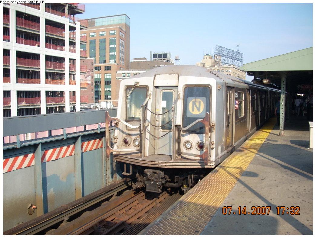 (221k, 1044x788)<br><b>Country:</b> United States<br><b>City:</b> New York<br><b>System:</b> New York City Transit<br><b>Line:</b> BMT Astoria Line<br><b>Location:</b> Queensborough Plaza <br><b>Route:</b> N<br><b>Car:</b> R-40 (St. Louis, 1968)  4358 <br><b>Photo by:</b> Bill E.<br><b>Date:</b> 7/14/2007<br><b>Viewed (this week/total):</b> 1 / 1930