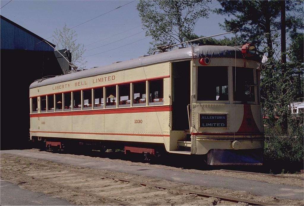 (255k, 1024x693)<br><b>Country:</b> United States<br><b>City:</b> Kennebunk, ME<br><b>System:</b> Seashore Trolley Museum <br><b>Car:</b> Lehigh Valley 1030 <br><b>Photo by:</b> Gerald H. Landau<br><b>Collection of:</b> Joe Testagrose<br><b>Date:</b> 5/24/1981<br><b>Viewed (this week/total):</b> 0 / 902