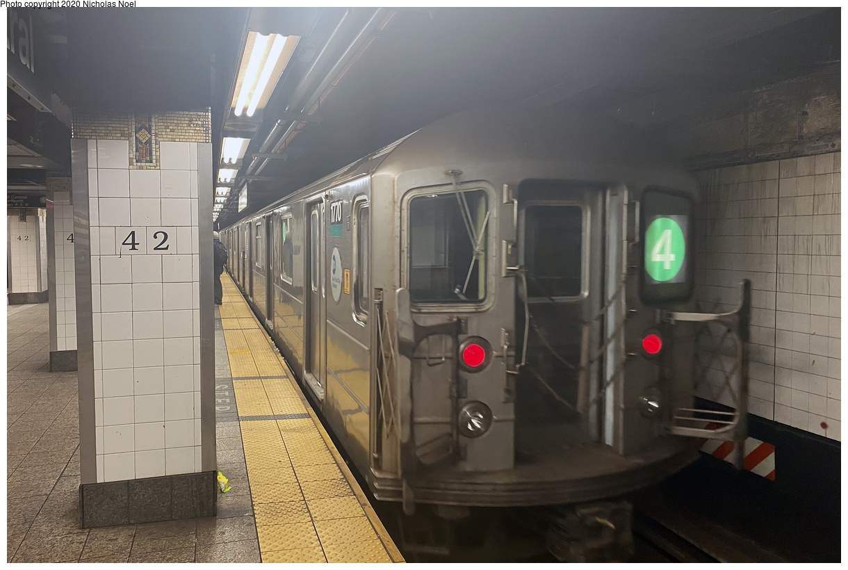 (162k, 1024x728)<br><b>Country:</b> United States<br><b>City:</b> New York<br><b>System:</b> New York City Transit<br><b>Line:</b> IND Fulton Street Line<br><b>Location:</b> Rockaway Boulevard <br><b>Route:</b> A<br><b>Car:</b> R-42 (St. Louis, 1969-1970)   <br><b>Collection of:</b> George Conrad Collection<br><b>Date:</b> 7/4/1969<br><b>Viewed (this week/total):</b> 2 / 4454