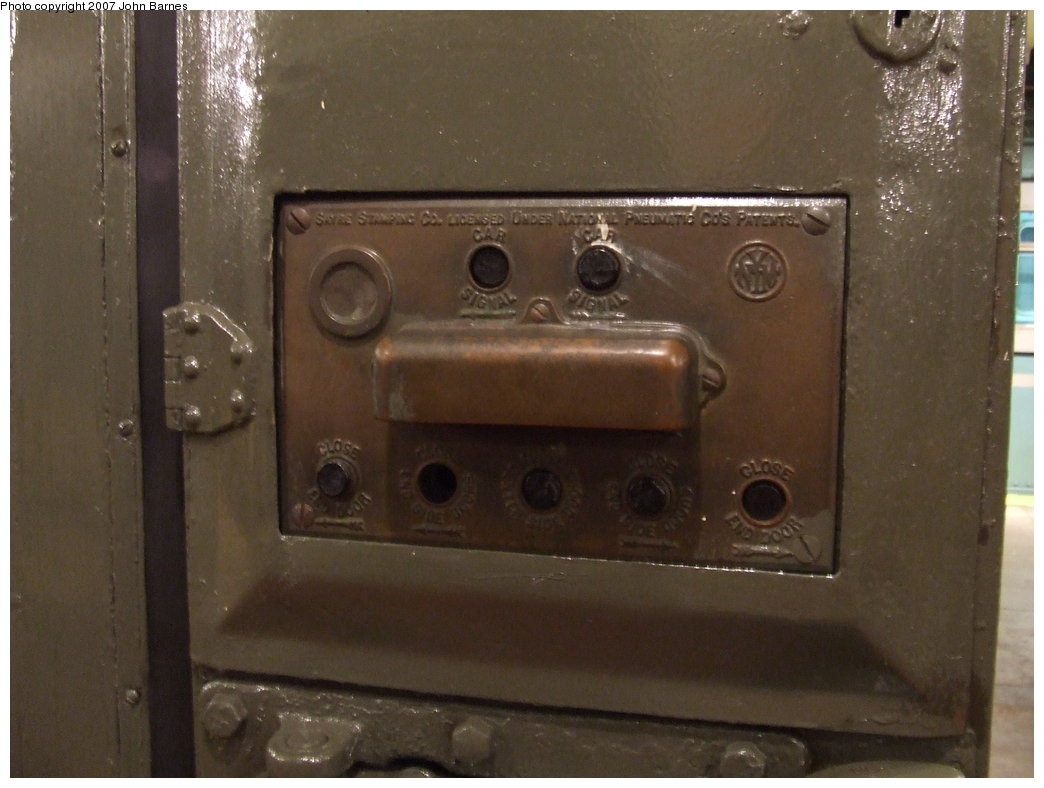 (136k, 1044x788)<br><b>Country:</b> United States<br><b>City:</b> New York<br><b>System:</b> New York City Transit<br><b>Location:</b> New York Transit Museum<br><b>Car:</b> BMT A/B-Type Standard 2204 <br><b>Photo by:</b> John Barnes<br><b>Date:</b> 7/19/2007<br><b>Notes:</b> Conductor control panel.<br><b>Viewed (this week/total):</b> 3 / 3023