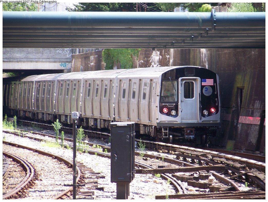 (235k, 1044x788)<br><b>Country:</b> United States<br><b>City:</b> New York<br><b>System:</b> New York City Transit<br><b>Line:</b> BMT Sea Beach Line<br><b>Location:</b> New Utrecht Avenue <br><b>Route:</b> Testing<br><b>Car:</b> R-160B (Kawasaki, 2005-2008)  8843 <br><b>Photo by:</b> Philip D'Allesandro<br><b>Date:</b> 7/20/2007<br><b>Viewed (this week/total):</b> 0 / 2166