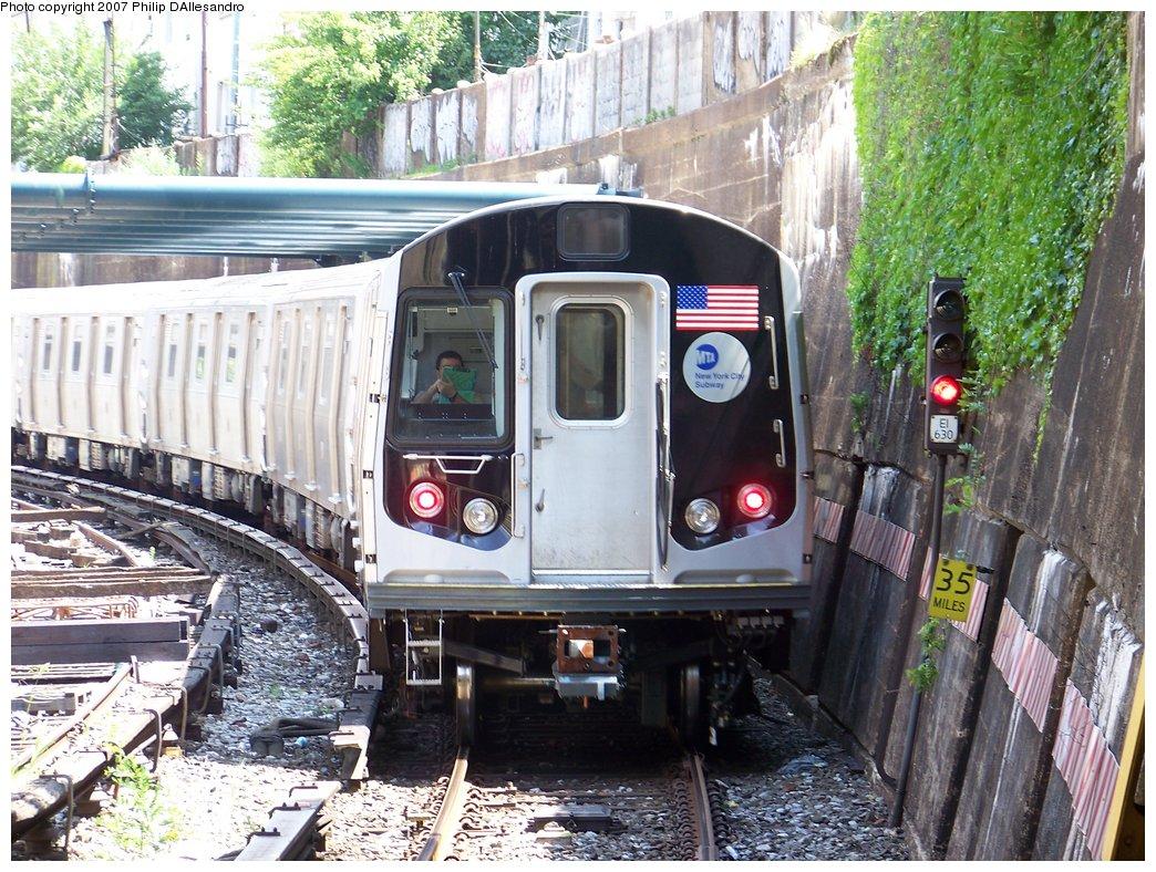(257k, 1044x788)<br><b>Country:</b> United States<br><b>City:</b> New York<br><b>System:</b> New York City Transit<br><b>Line:</b> BMT Sea Beach Line<br><b>Location:</b> New Utrecht Avenue <br><b>Route:</b> Testing<br><b>Car:</b> R-160B (Kawasaki, 2005-2008)  8843 <br><b>Photo by:</b> Philip D'Allesandro<br><b>Date:</b> 7/20/2007<br><b>Viewed (this week/total):</b> 1 / 2343