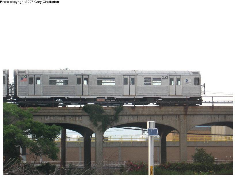 (73k, 820x620)<br><b>Country:</b> United States<br><b>City:</b> New York<br><b>System:</b> New York City Transit<br><b>Line:</b> IND Rockaway<br><b>Location:</b> Beach 105th Street/Seaside <br><b>Route:</b> A<br><b>Car:</b> R-38 (St. Louis, 1966-1967)  4004 <br><b>Photo by:</b> Gary Chatterton<br><b>Date:</b> 6/29/2007<br><b>Viewed (this week/total):</b> 0 / 2910