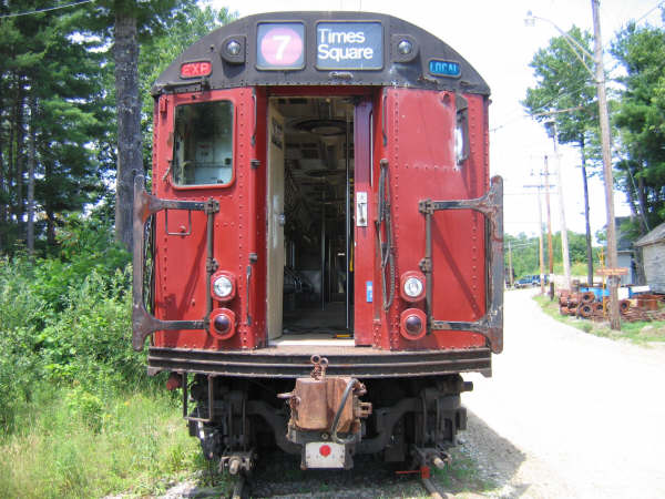 (57k, 600x450)<br><b>Country:</b> United States<br><b>City:</b> Kennebunk, ME<br><b>System:</b> Seashore Trolley Museum <br><b>Car:</b> R-33 World's Fair (St. Louis, 1963-64) 9327 <br><b>Photo by:</b> Professor J<br><b>Date:</b> 7/14/2007<br><b>Viewed (this week/total):</b> 2 / 1426